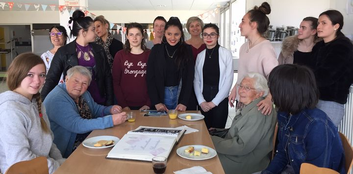 Rencontre inter-générationnelle au Lycée Vallon-Bonnevaux
