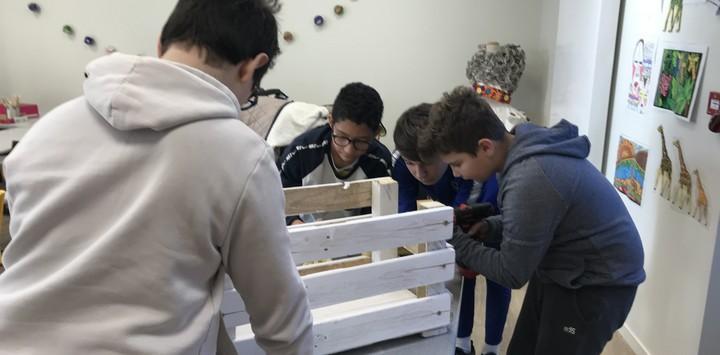 Création d'objets en bois de récupération