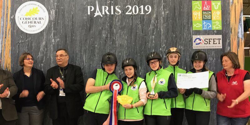 Le Lycée de Maurs remporte le Concours Général Equitrait Jeunes