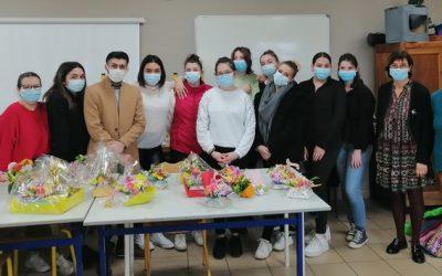 Atelier d'art floral au Lycée Saint André
