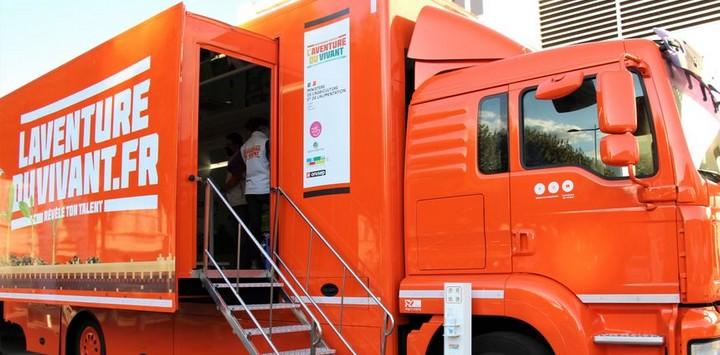 Le camion de l'Aventure du Vivant à Chambéry
