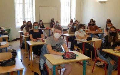 Rentrée des classes pour les 1ères Bac Pro SAPAT